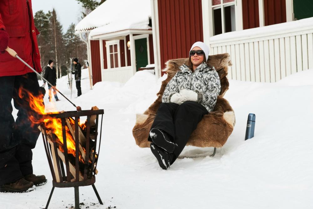Byske Havsbad Strandvilla grill winter