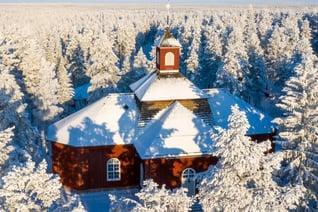 Alte Holzkirche von Pudasjärvi