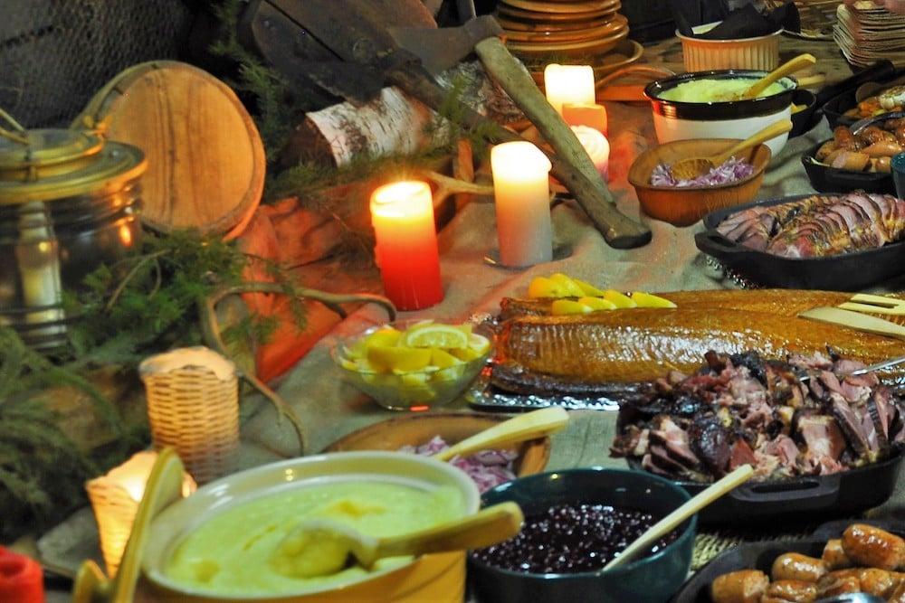 Vimpa Islands - Viking Dinner, Abendessen