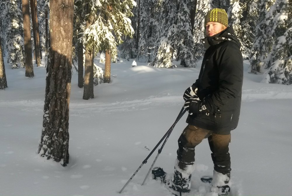Schneeschuhwandern in Boden