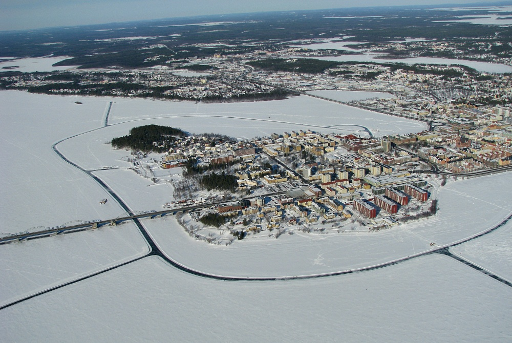 Explore Luleå winter Eisstrecke auf dem Meer