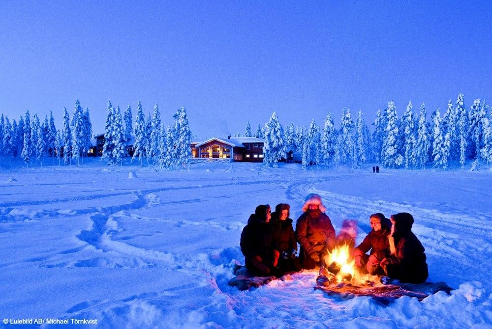 Explore the North Husky Stille einer Winterwoche