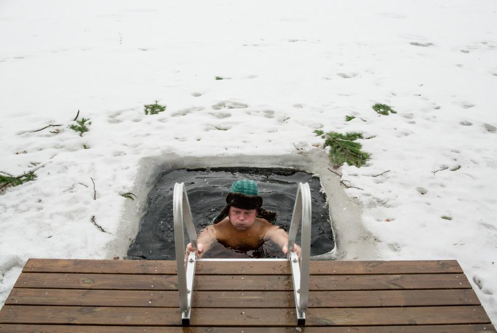 Hawkhil Eis-schwimmen