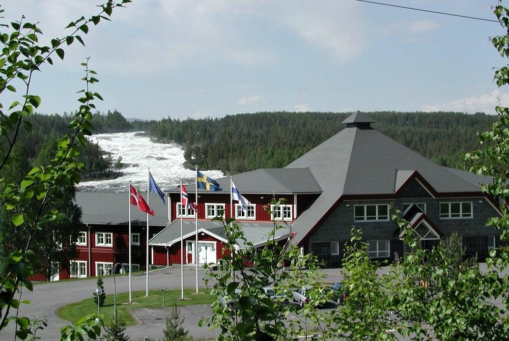 Hotel Storforsen Stromschnellen Schwedisch Lappland