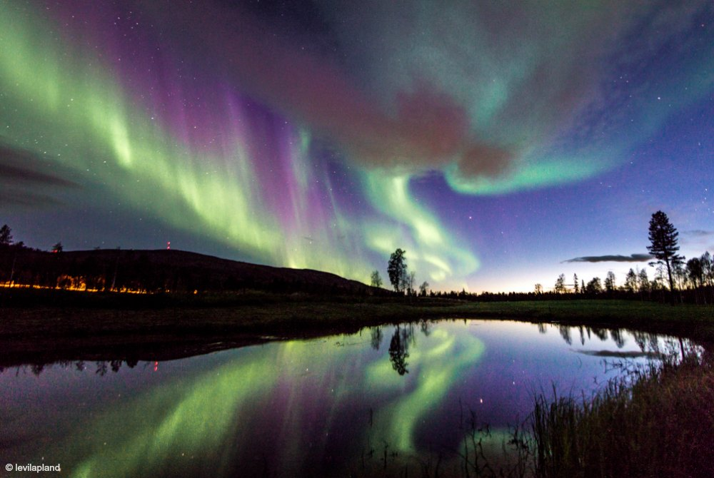 Nordlichter in Levi, Finnland © levilapland