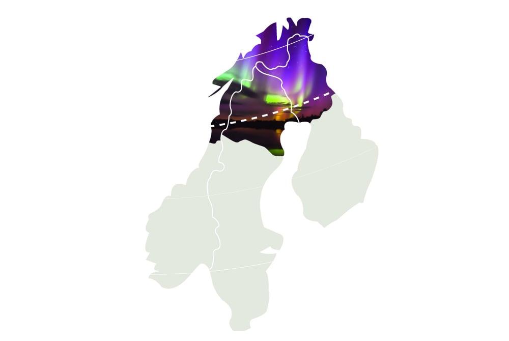 Nordlichter Map, Arctic Europe