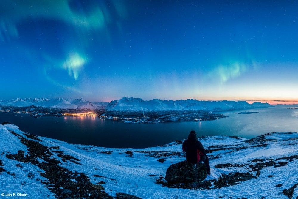 Lyngenfjord Nordlichter - Copyright: Jan R Olsen