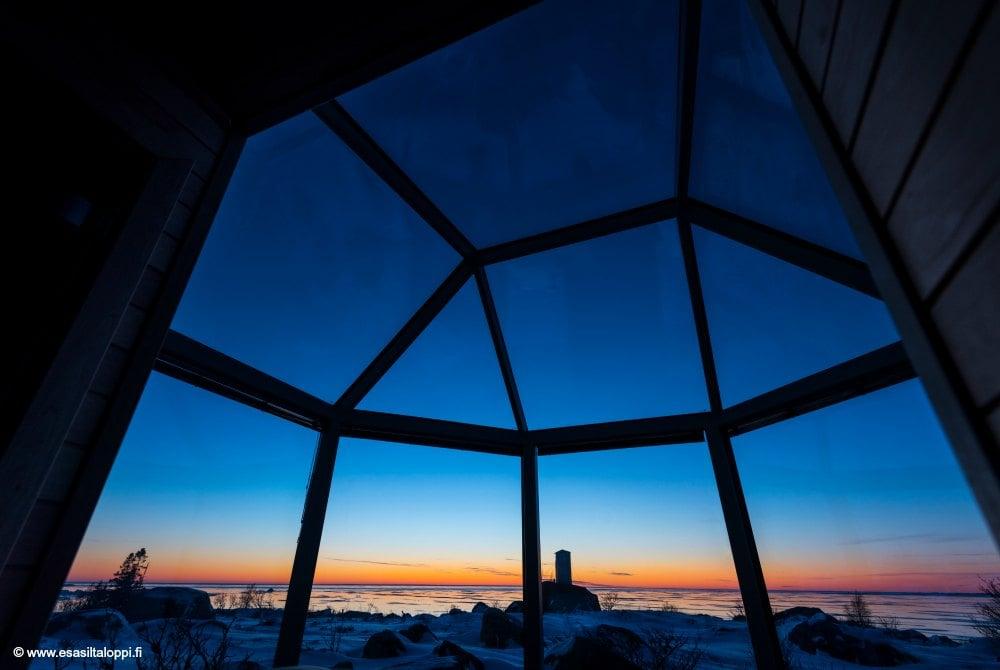 Kalle's Inn Glasunterkunft im Winter