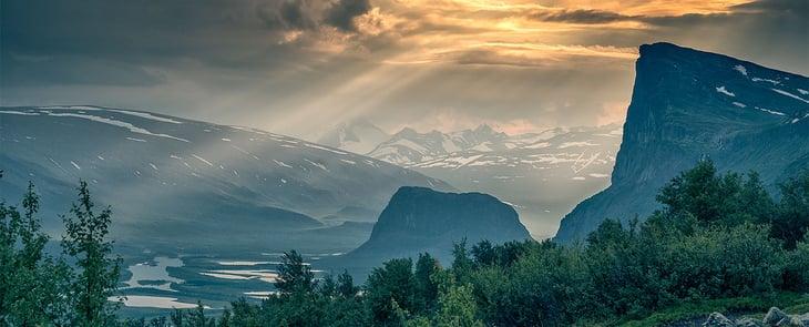 Schweden Jokkmokk Berge