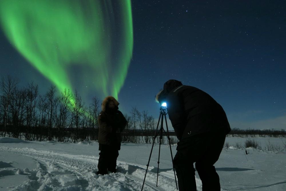 Máttaráhkká Nordlicht Fotoabend Kiruna
