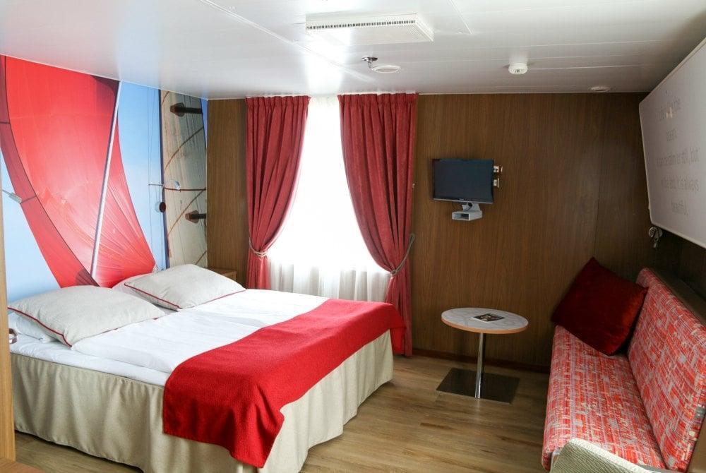 Kabine an Bord eines Finnlines-Schiffes der STAR-Klasse