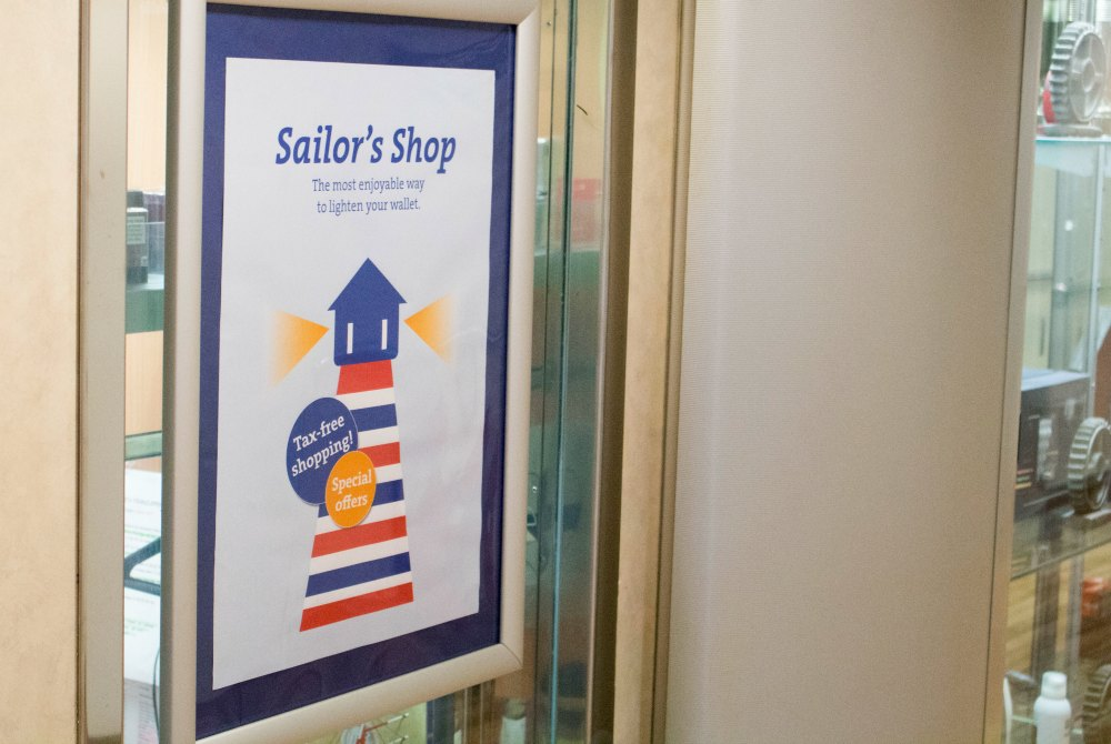 Sailor's Shop an Bord der Finnlines STAR-Klasse Schiff
