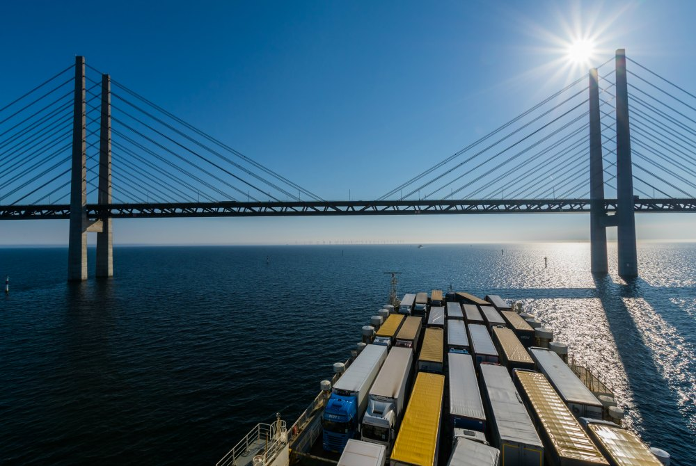 Finnlines-Schiff der STAR-Klasse auf dem Weg nach Malmö