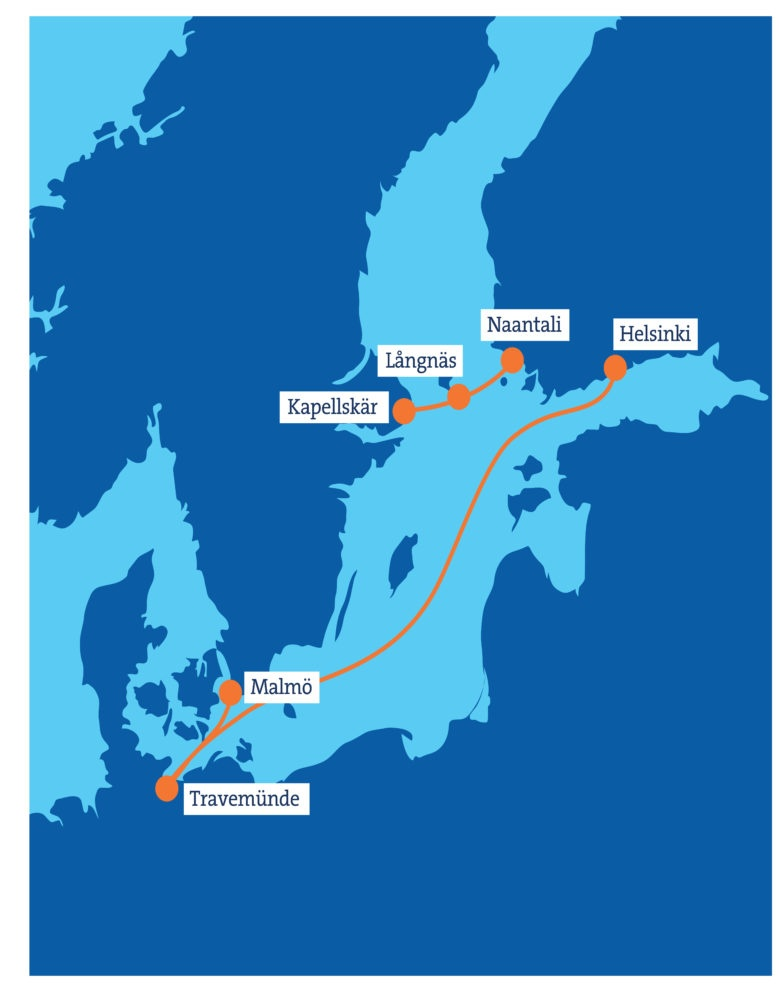 Finnlines-Landkarte