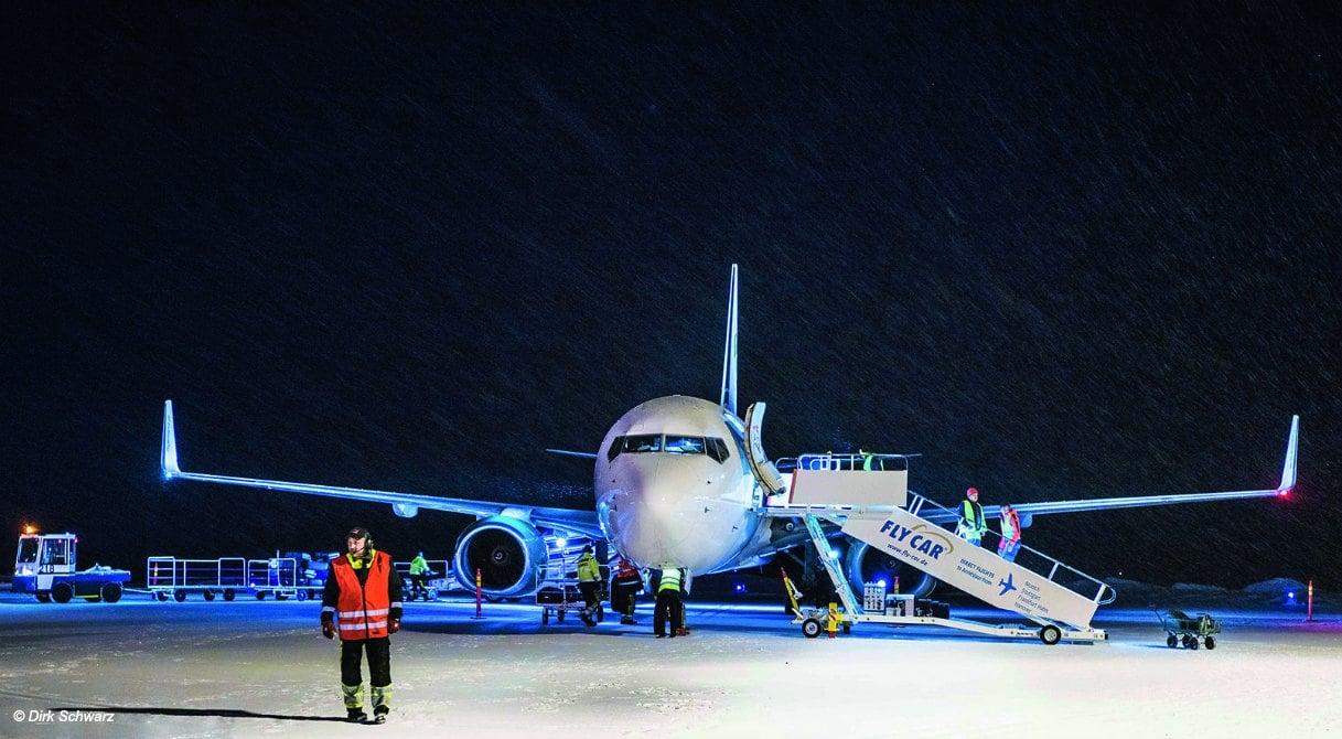 FlyCar-Flugzeug am Flughafen Arvidsjaur