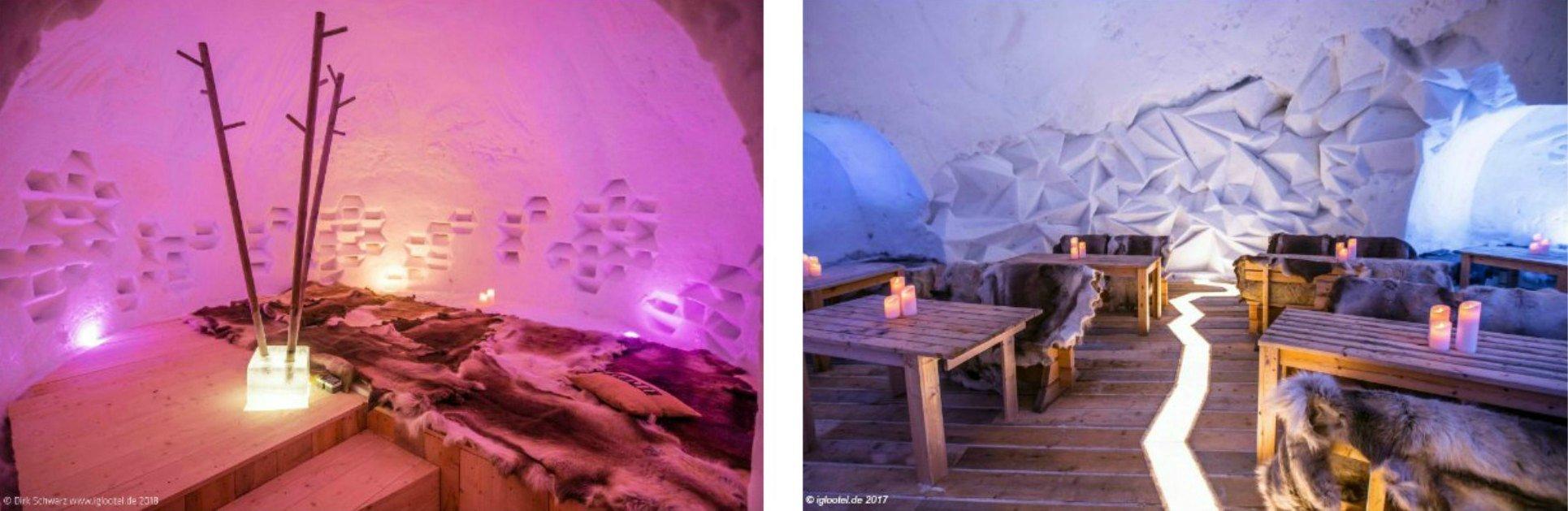Schlaf- und Event-IGLOO im IGLOOTEL Lapland
