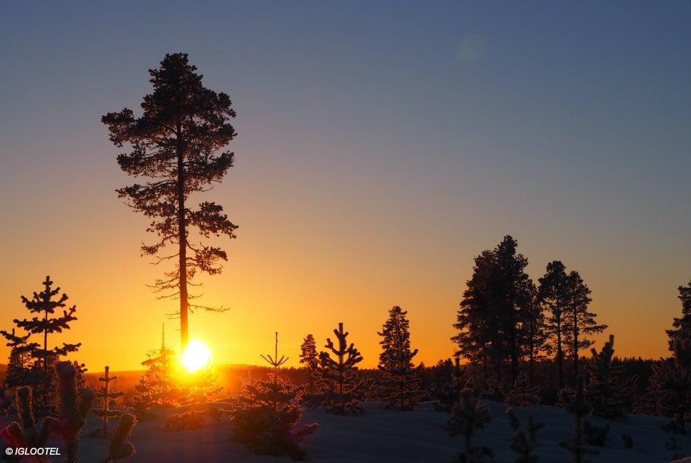 Sonnenuntergang Arjeplog