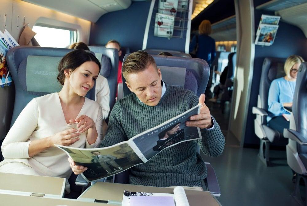 komfortables Reisen mit dem Allegro-Zug
