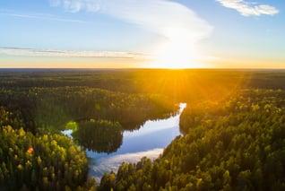 Espoo-Luftaufnahme-Seenlandschaft