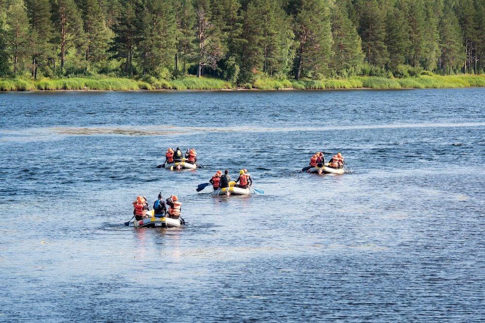 Umeå - Forsknäckarna - WildwasserRafting für Familien