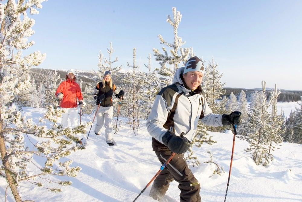 Schneeschuhwandern in Levi, Finnisch Lappland