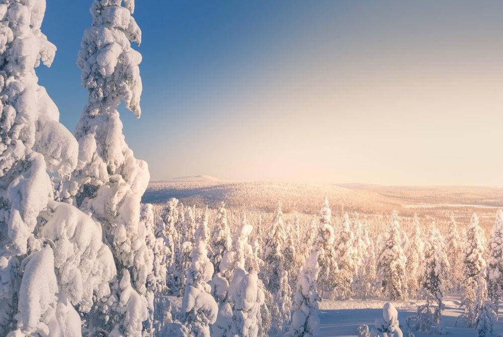 Winterlandschaft in levi