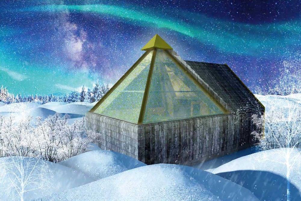 Hullu Poro_Elves Village_Aurora pyramids Levi