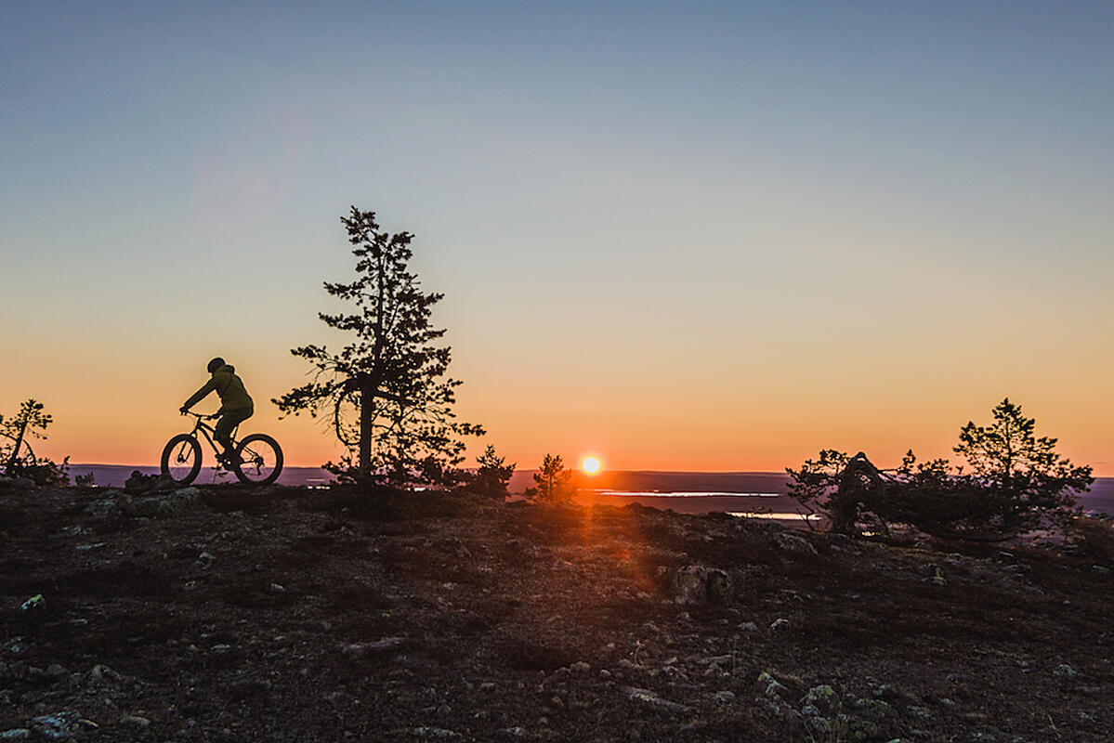 Fahrradfahren in Levi