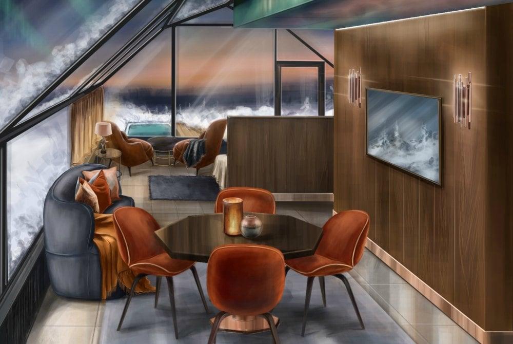 Levin Iglut-Suite Iglus-Wohnbereich