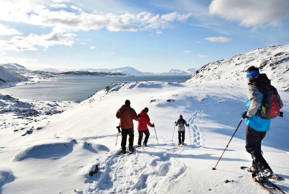 Schneeschuhwandern in den Lyngenalpen