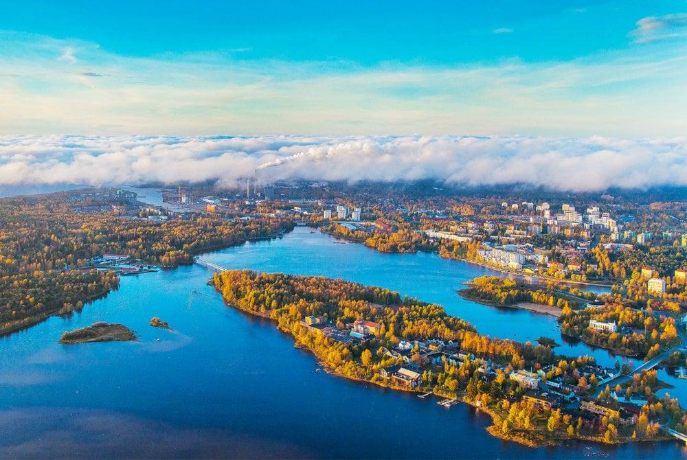 Oulu aus der Luft