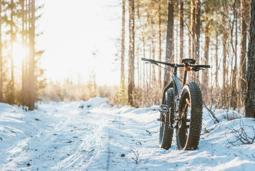 Mountainbiken im Winter in Liminka