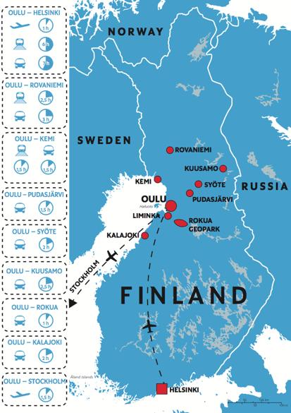 Oulu - PM 2019.2020 - Finnland Karte, Finland Map
