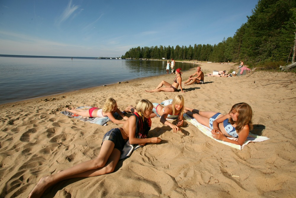 Rokua_Manamansalo Camping - Strand Uimaranta