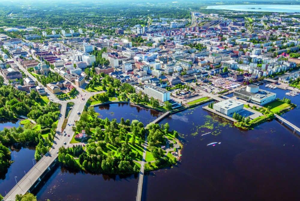 Oulu von oben