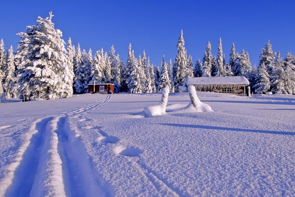 Solberget im Winter