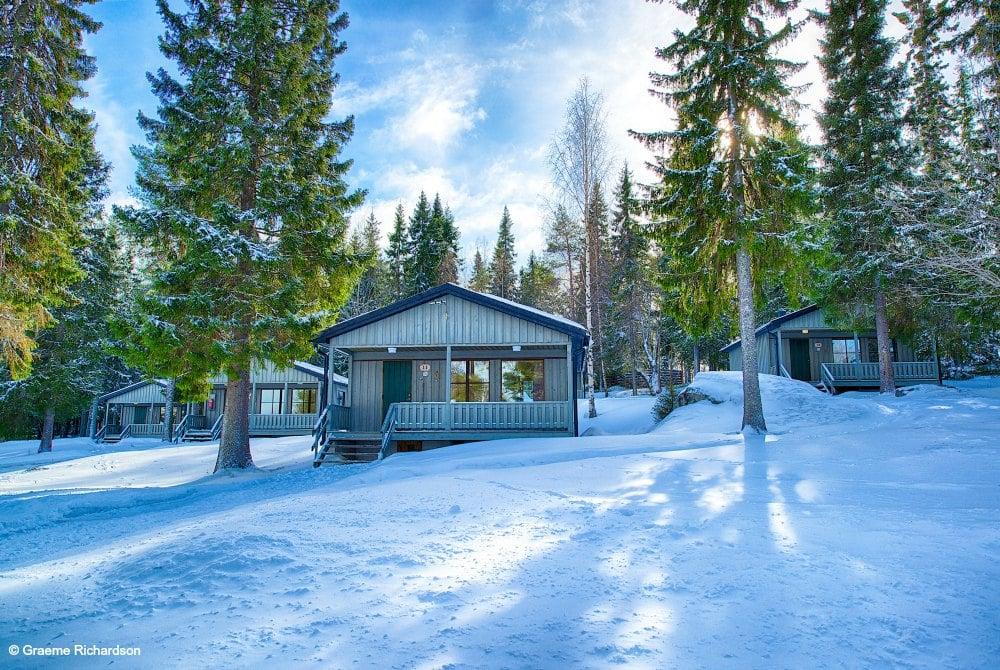 Hütten der Brändön Lodge