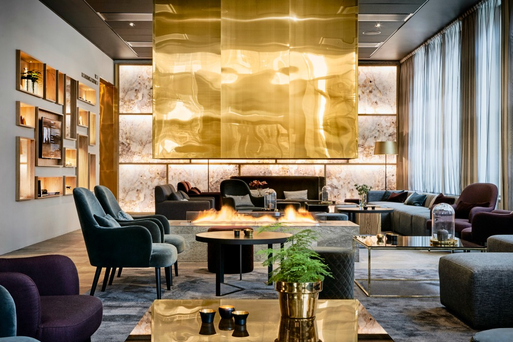Die edle Lobby des KUST Hotel & Spa.