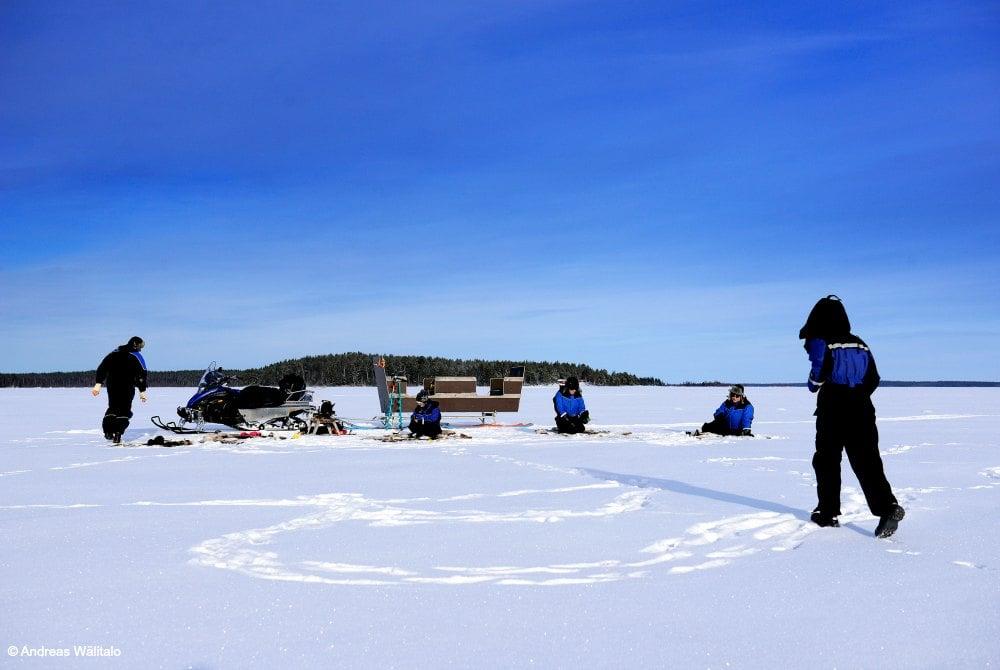 Eisangeln in Luleå