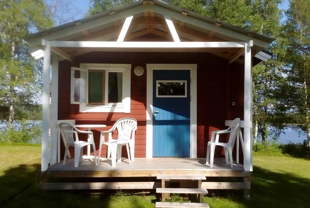 Campinghütten in Trollforsen