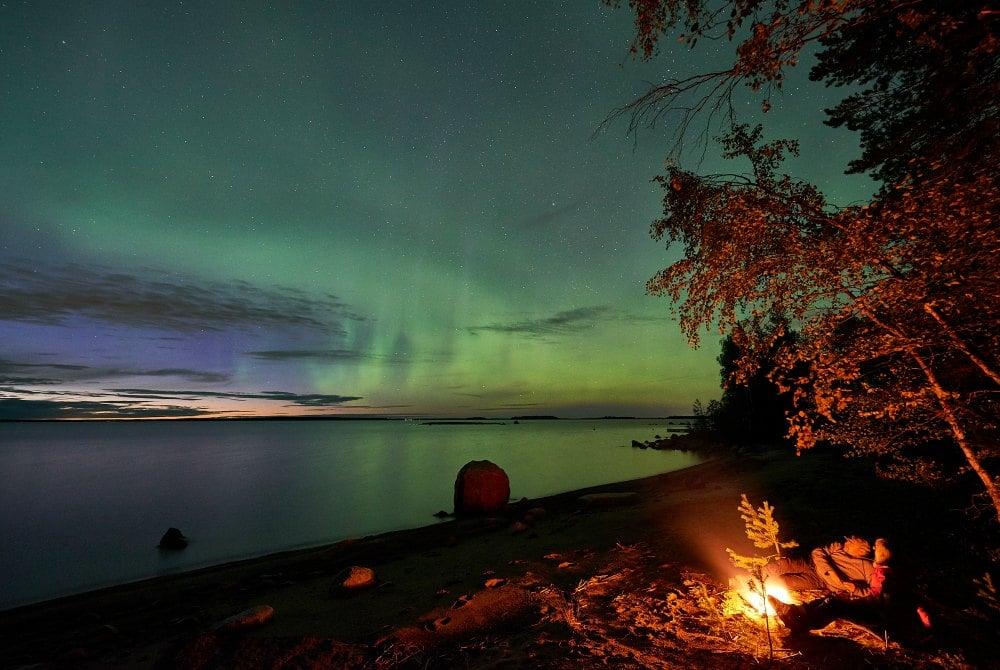 Brändön Lodge-Nordlichter-copyright Graeme Richardson