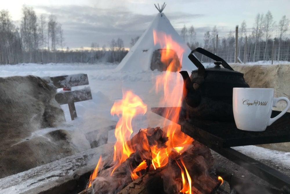 Kaffee am offenen Feuer