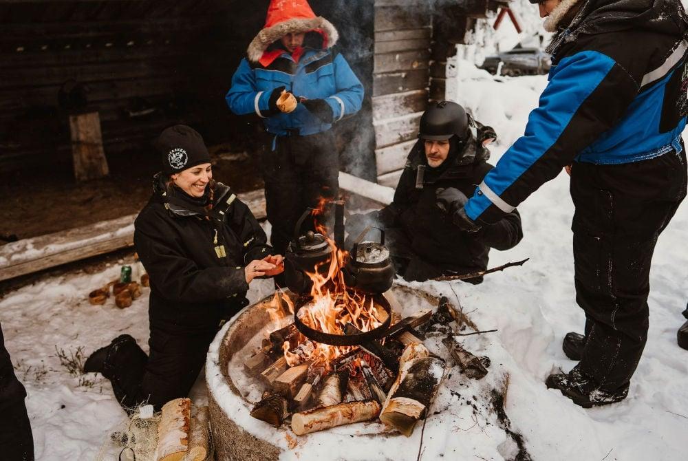 Norrsken Lodge-Kaffeepause