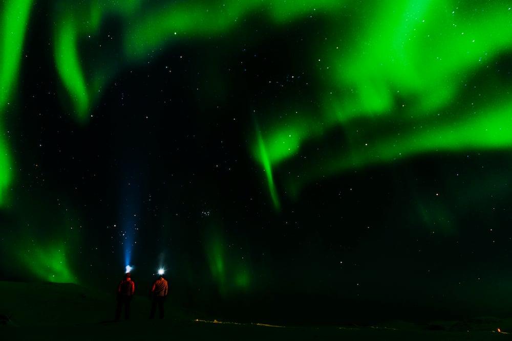 Nordlichter in Björkliden Fjällby