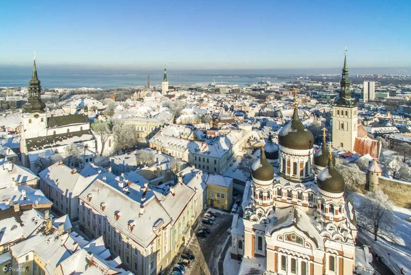 Sicht auf das winterliche Tallinn
