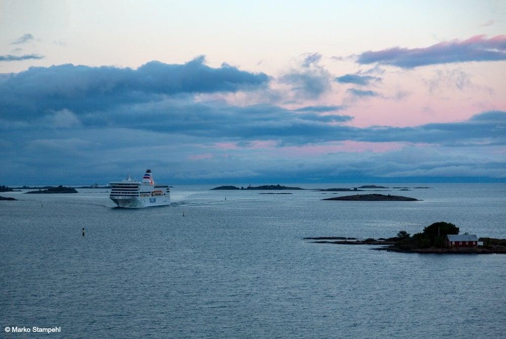 Tallink Silja Fähre Victoria vor den Åland Inseln