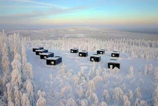 Ukkohalla-Blick auf Sky Cabins
