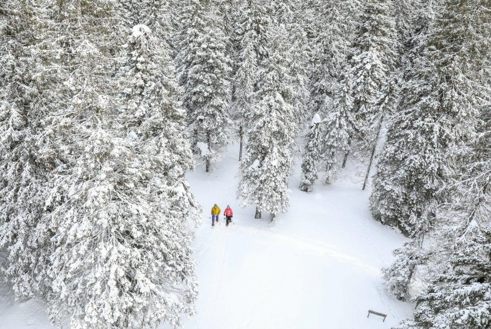 Schneeschuhwandern in Ukkohalla