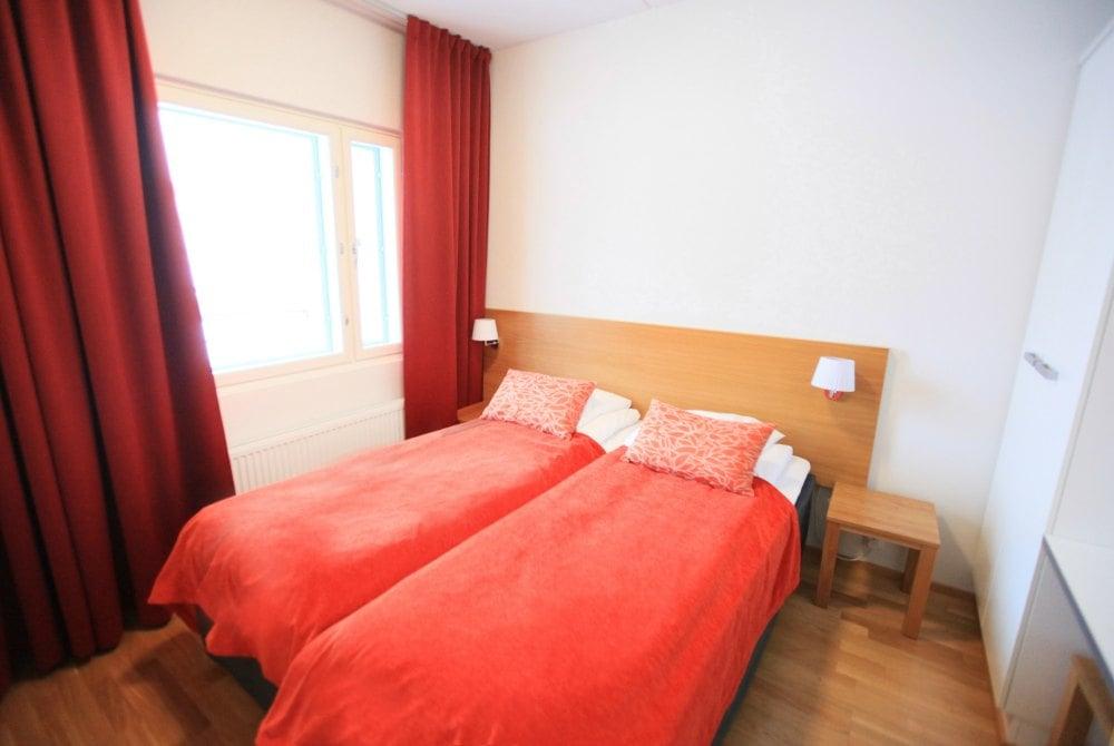 Schlafzimmer im Ski Chalet in Ukkohalla