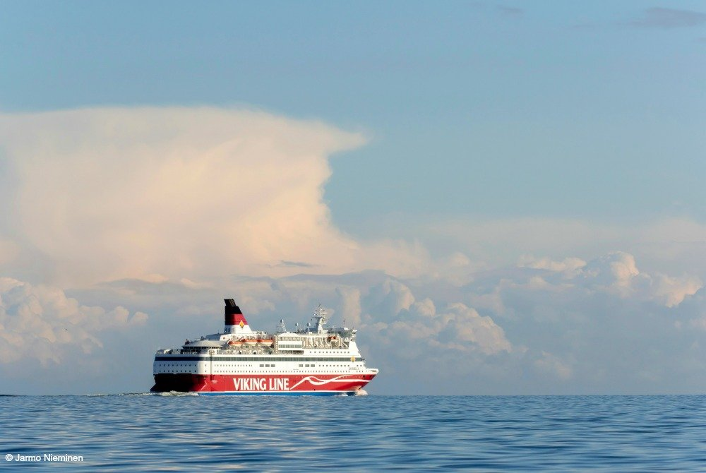 Viking Line Gabriella auf See.